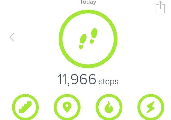 ในโลก #fitbit เมื่อวานนี้เป็นวันที่ยิ่งใหญ่ .. ทั้งหมดเป็นสีเขียว #fitness # …