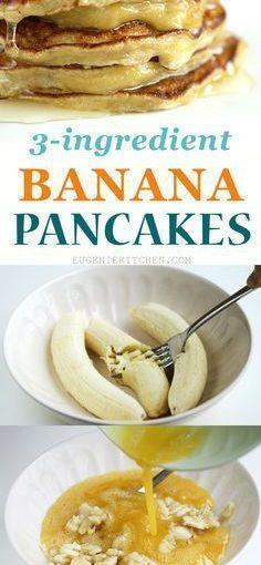 ง่ายรวดเร็ว 3 ส่วนผสมกานพลูแคลอรี่ต่ำตังฟรีกล้วยแพนเค้ก …