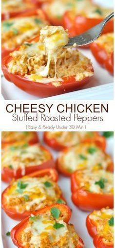 ไก่ยัดไส้พริกไทย – อร่อยมาก! ทำให้พวกเขาในเตาอบและ …