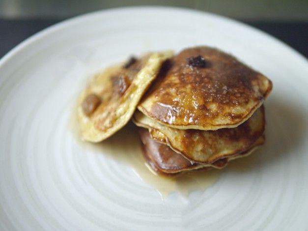 สามส่วนผสมกล้วยแพนเค้ก 5: 2 สูตรอาหารอย่างรวดเร็วแคลอรี่ต่ำ (30 แคลอรี่)