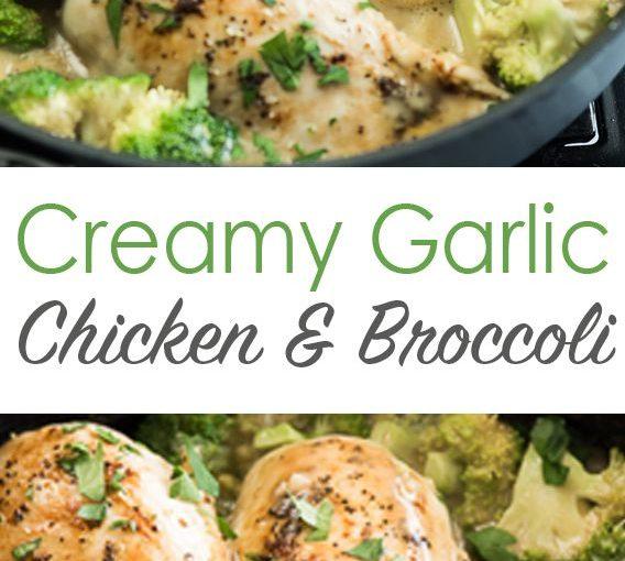 Skillet ครีมกระเทียมไก่และผักชนิดหนึ่งทุกคนจะรัก! | กล่องสูตรที่ดีที่สุด