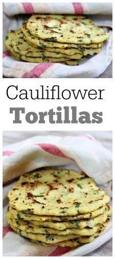 สูตรกะหล่ำ Tortillas: Tortillas ทำจากกะหล่ำดอกแทน …