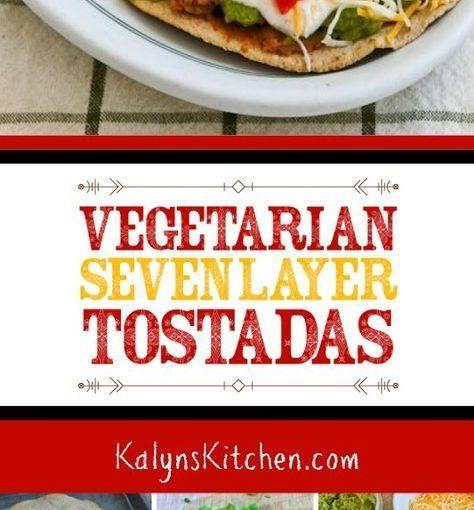 ผัก Tostadas เซเว่นชั้นมีรสอร่อยสำหรับคืนวันจันทร์ meatless กับความสนุกสนาน …