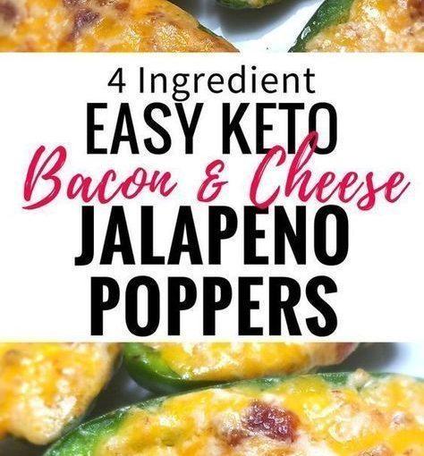Keto jalapeño poppers พร้อมเบคอน หากคุณอยู่ในอาหาร ketogenic นี้เป็นเรื่องง่ายที่จะ …
