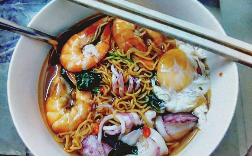 อาหารเย็น🥘 #noodles #mitom #mihaisan # seafood # asianfood #herb #kytu #lyciumchinen …